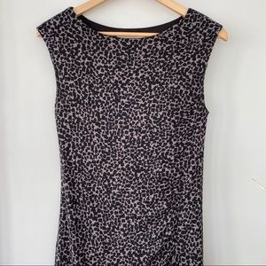 LOFT sleeveless dress in animal print